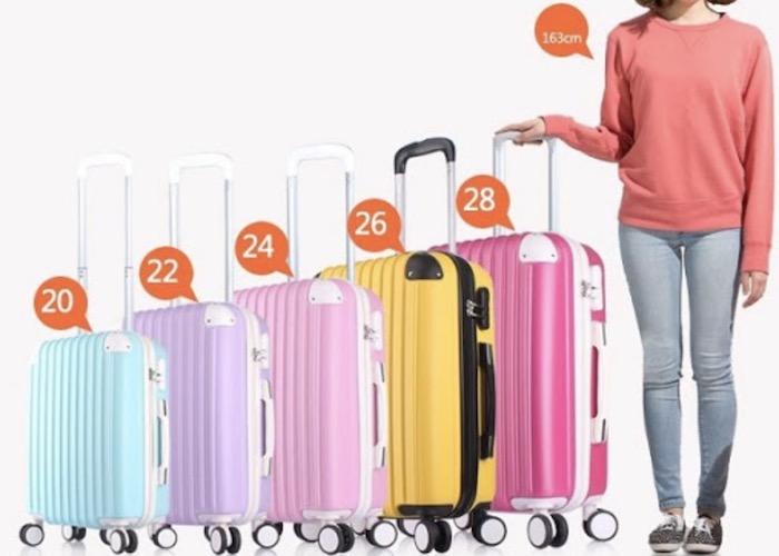 Chọn kích thước vali kéo phù hợp với nhu cầu sử dụng