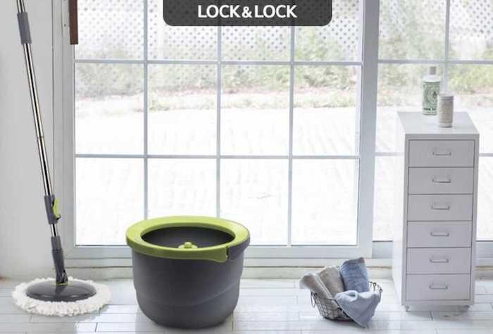 Bộ cây Lau Nhà Xoay Tay Mini Ettom Lock&Lock ETM498, cây lau nhà thông minh nào tốt nhất