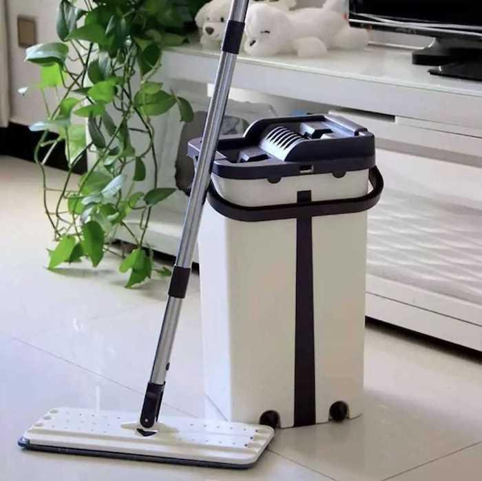 Bộ Cây lau nhà tự động vắt và làm sạch BIDAMOP, cây lau nhà thông minh nào tốt nhất