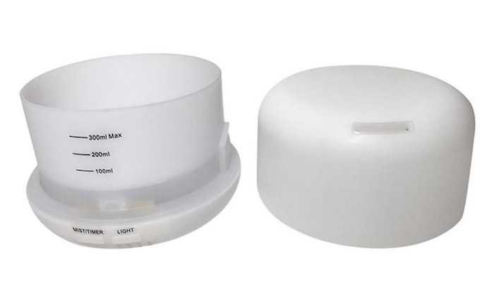 Máy xông tinh dầu nào tốt nhất hiện nay - Máy khuếch tán tinh dầu hình trụ trắng 300ml Lorganic FX2030