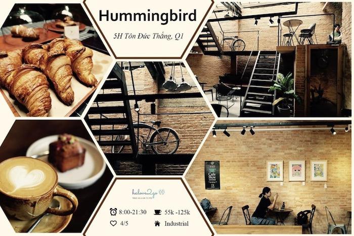 TOP 10+ quán cafe đẹp, chất lượng ở Quận 1 - The Hummingbird Cafe Saigon