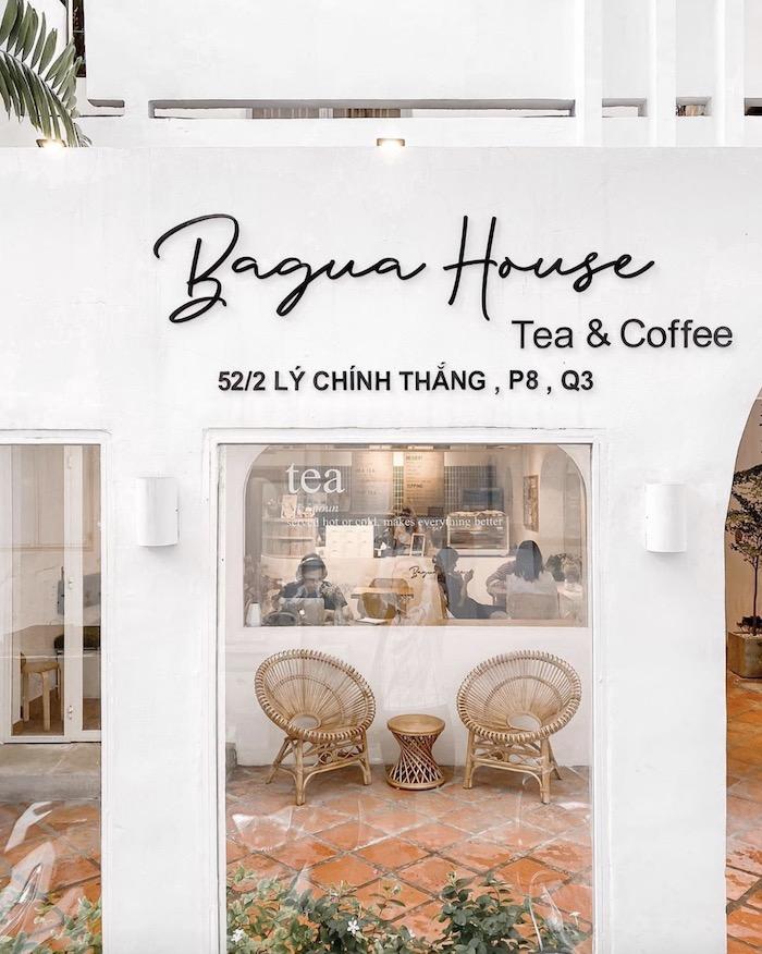 Bagua House - Quán cafe ở quận 3 yên tĩnh, nhẹ nhàng với style trắng tinh xinh xắn đón nắng vàng
