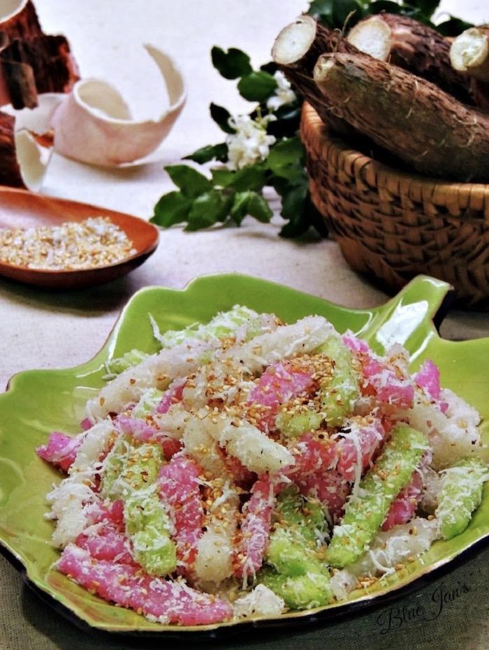 Bánh tằm khoai mì: Món ăn vặt Đà Lạt nhiều màu sắc