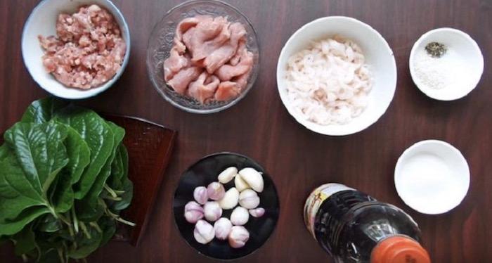 Nguyên liệuướtthịt bò nướng lá lốt