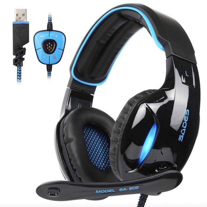 Tai nghe chụp tai giá rẻ Sades SA-902 Gaming chất lượng