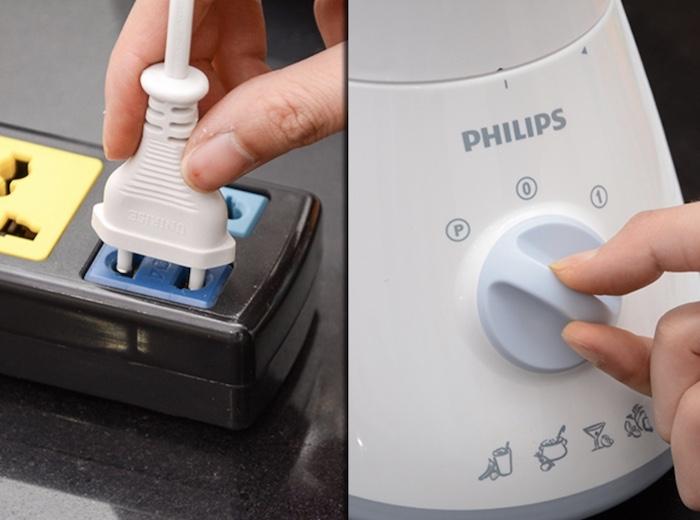 Cần ngắt điện trước khi tiến hành vệ sinh máy