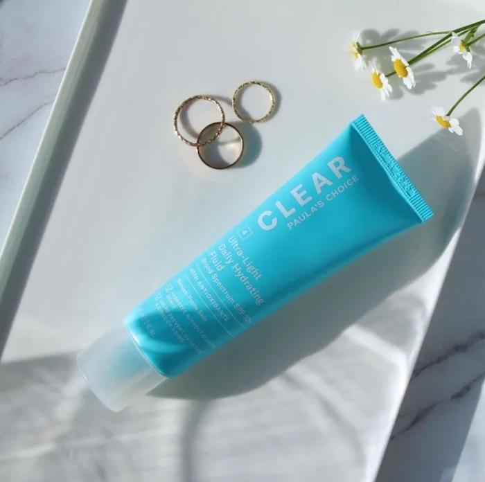 kem chống nắng cho da mụn paula's choice clear ultra-light daily fluid spf 30+