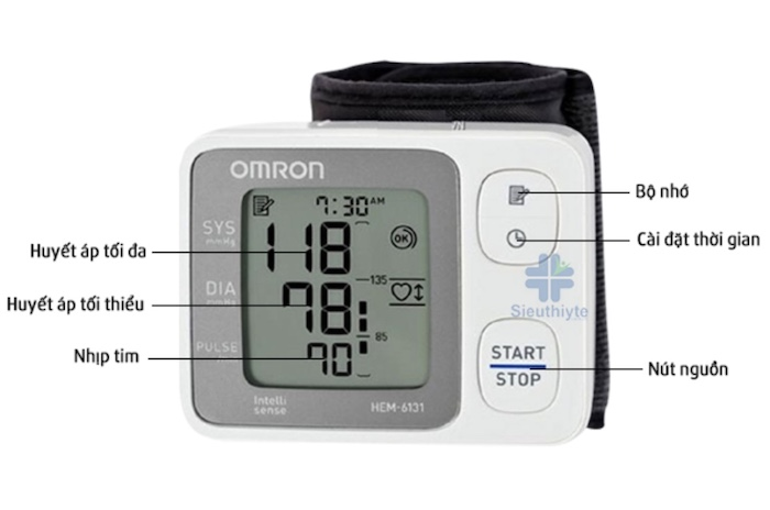 Máy đo huyết áp điện tử cổ tay Omron 6131