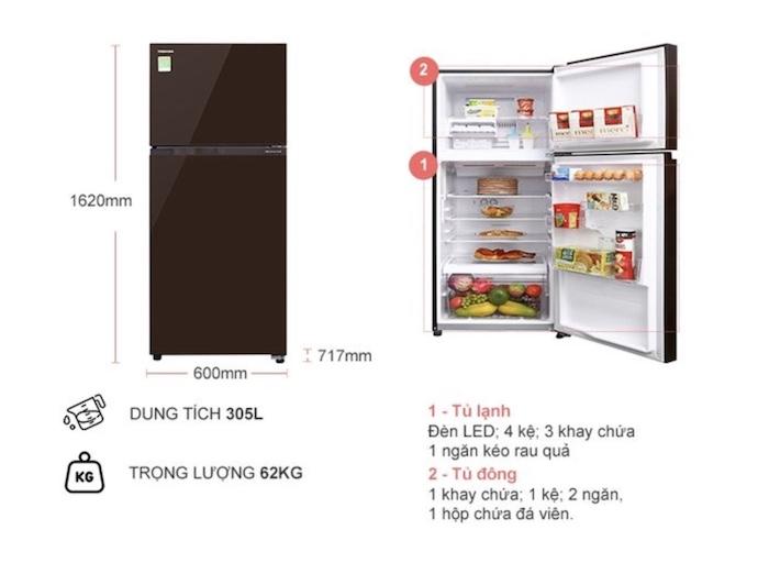 Thông tin chi tiết về Tủ Lạnh Toshiba 305 LÍT GR-AG36VUBZ (XB1)