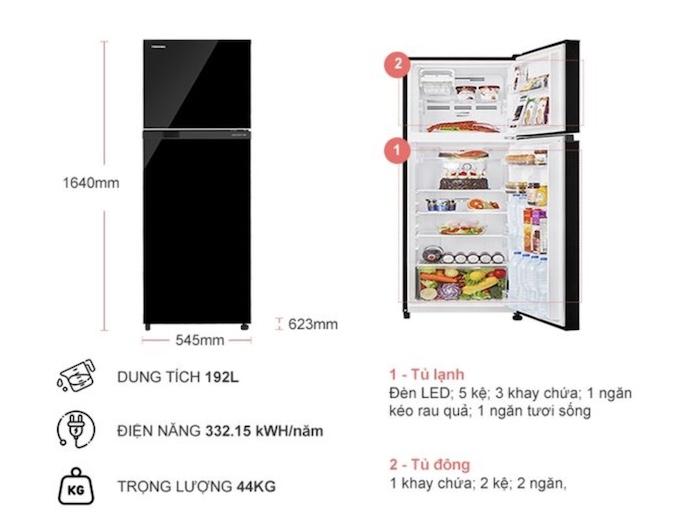 Thông tin chi tiết về Tủ Lạnh Toshiba Inverter GR-B31VU(UKG) (Đen)