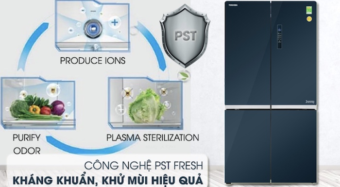 Tủ lạnh Toshiba tích hợp công nghệ khử mùi, kháng khuẩn an toàn