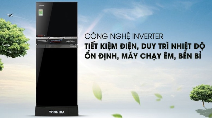 Tủ lạnh Toshiba được tích hợp công nghệ tiết kiệm điện và làm lạnh sâu