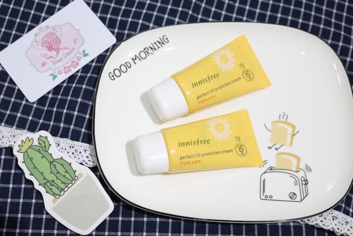 Innisfree Triple Care - Kem chống nắng dành cho da mụn, bảo vệ và dưỡng sâu bên trong cấu trúc tế bào da